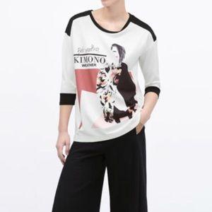 Women's Rare Zara Graphic Sweater, Size Large
